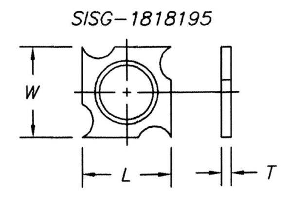 SISG-141420-2 - Spur/Grooving Knife,14x14x2.0 with 2mm Rad (10 Pc)