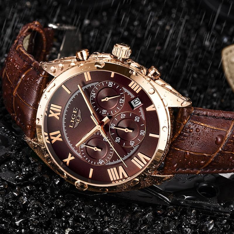 Montre Homme Cuir Or