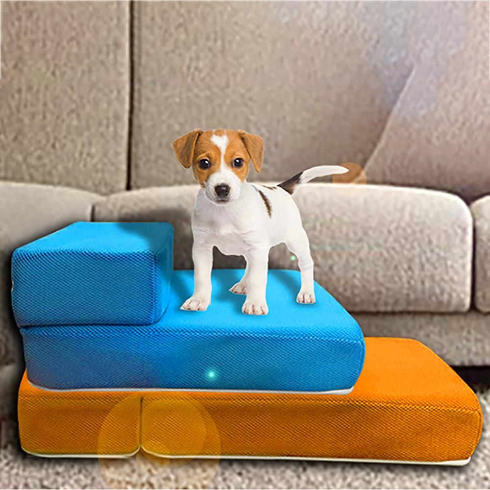 CoorvaYo Dog Steps for Bed - Large or Medium Stackable Soft Pet Stairs