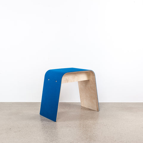 STADIG.stubenhocker Design stool made of wood with wool felt cover  #sea blue #2nd choice