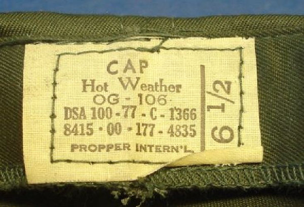 US Army Vietnam Period Hot Weather Cap