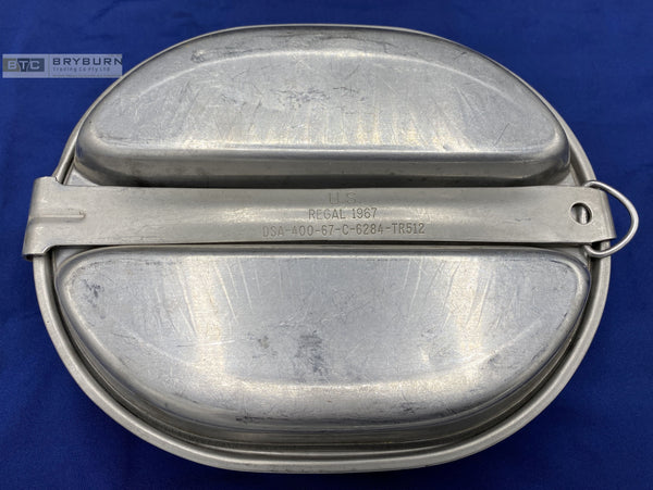 US Army M1942 Vietnam War Mess Kit - Regal Mfg - 1967