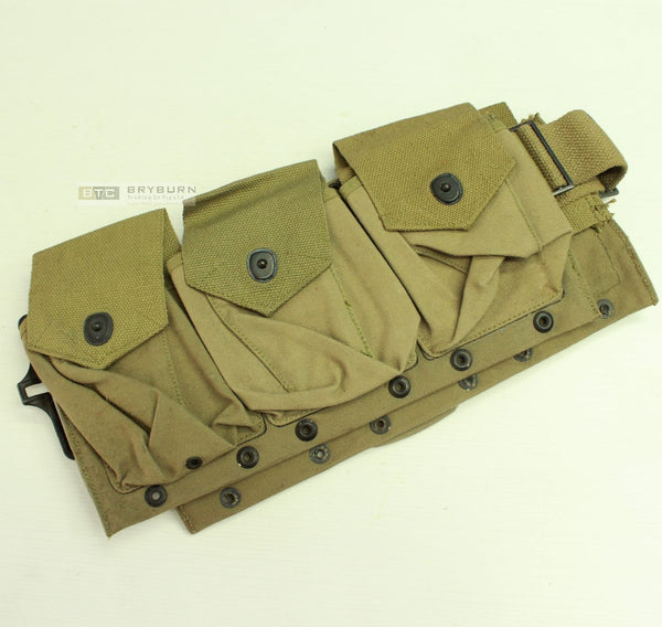 US Army WW2 Khaki BAR Magazine Belt - 1942 - Original Unissued