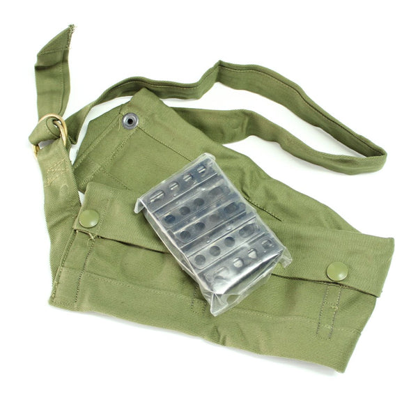 10 x Lee Enfield SMLE 303 Rifle 5rd Stripper/Charger Clips & Jungle Green Bandolier - Unissued