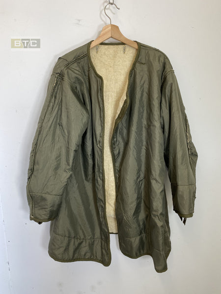 US M1951 Korean War Fishtail Parka Frieze Wool Liner- Genuine US Issue - Size Medium