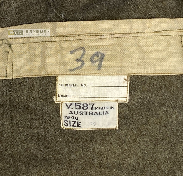 Australian WW2 1942 Pattern BCOF Service Dress Jacket - 1946 - Original