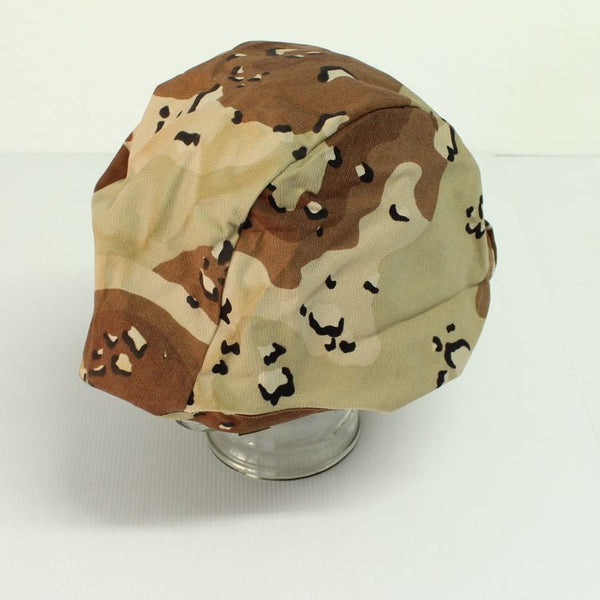 US Army GI Kevlar Helmet 6 Colour Desert (Chocolate Chip) Camo Cover - Unissued