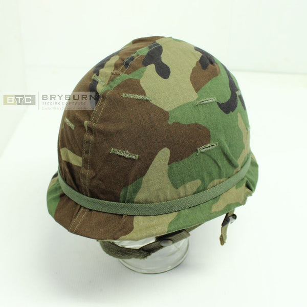US M1 Combat Helmet with Liner & Camo Cover - Original