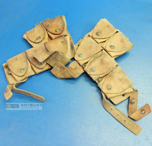 Australian WW1 P1915 Leather Equipment Cartridge Carriers Pair - Original