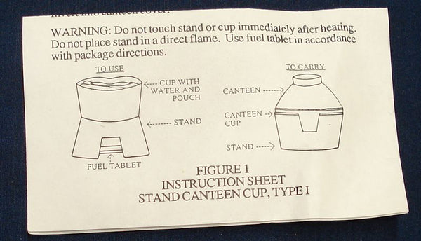 US Army ALICE Canteen Cup Stand - Genuine US Issue