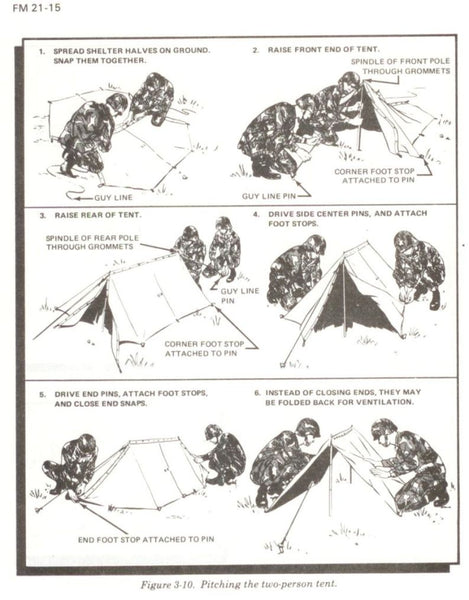 US Army Two Man Pup Tent - Genuine US Issue