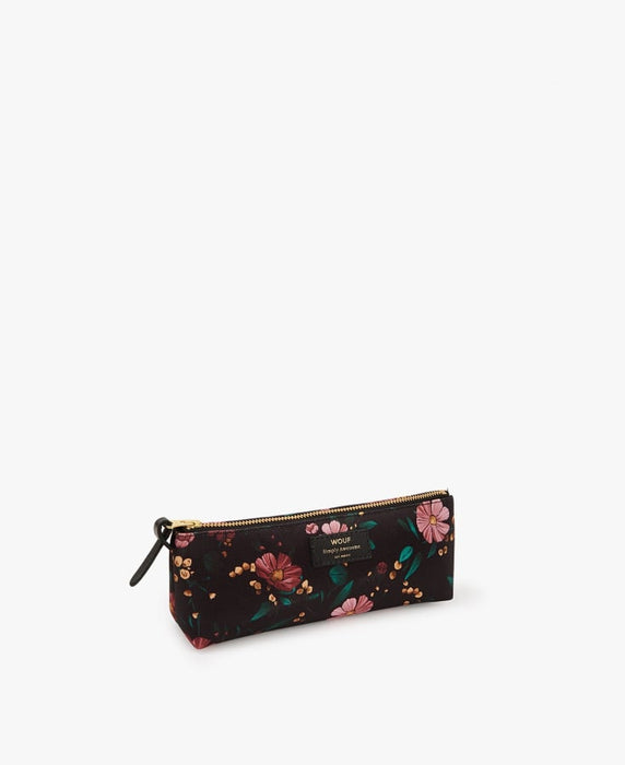 WOUF - Papeterie - BLACK FLOWERS PENCIL CASE - Premier ÉTAGE