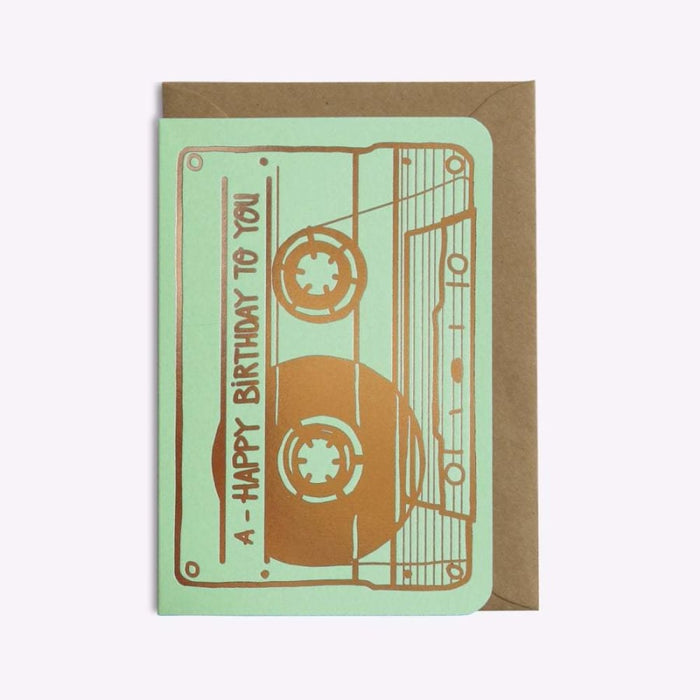 Les Éditions du Paon - Papeterie - CARTE 'CASSETTE HAPPY BIRTHDAY TO YOU' - Premier ÉTAGE
