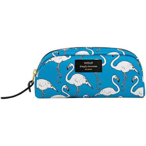 FLAMINGO SMALL MAKE UP BAG par WOUF • accessoire, bleu, femme, flamant rose, flamingo