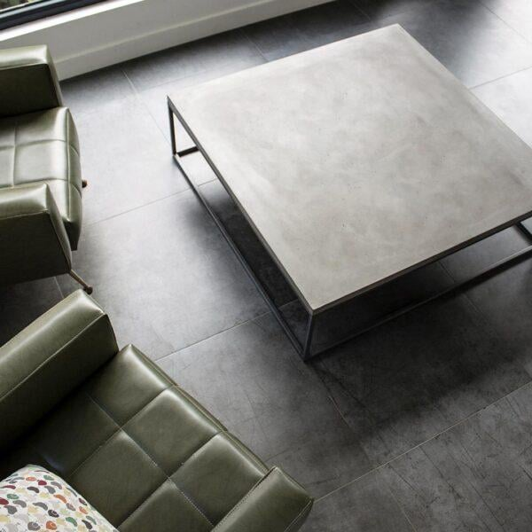 PERSPECTIVE - TABLE BASSE CARRÉE - XL par Lyon Béton • architecte, beton, design, embellir, gris