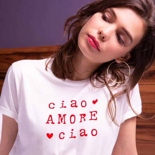 Faubourg 54 - Mode Femme - T-shirt Ciao Amore Ciao - Premier ÉTAGE