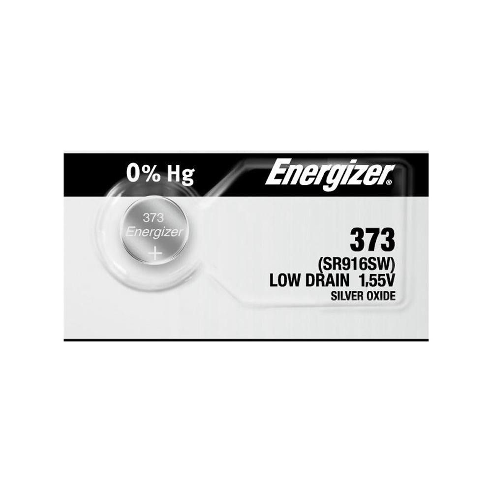 Energizer 373 Silver Oxide Button Cell, 1.55V Low Drain - ea (5 per strip)
