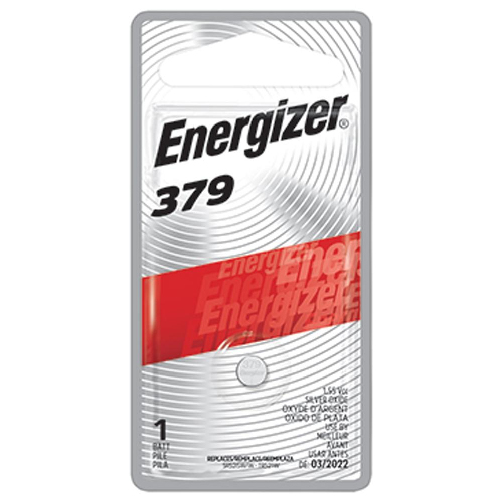Energizer 379 Silver Oxide Button Cell, 1.55V Low Drain - 1 per card