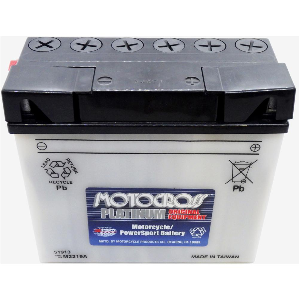 51913 High Perf Conv 12V MC Battery, Dry Charged 19 *** AH, N/A CCA  M2219A