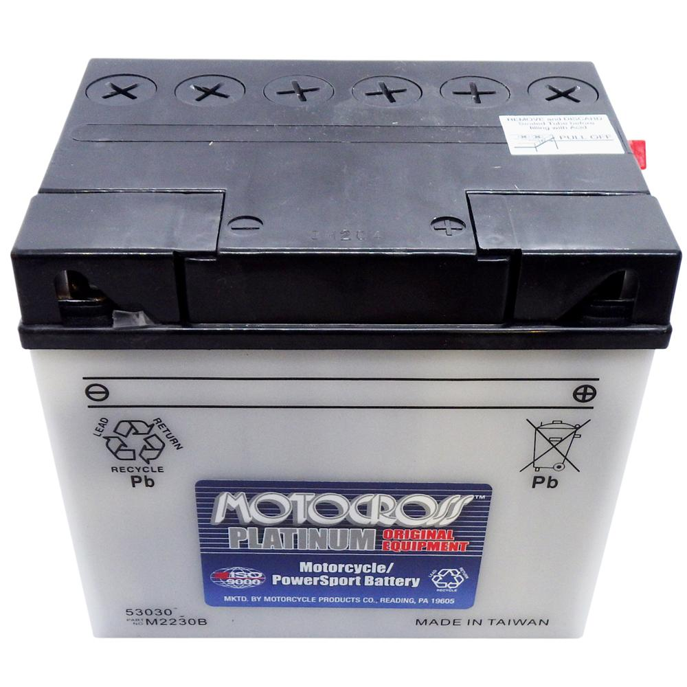 53030 High Perf Conv 12V MC Battery, Dry Charged 30 AH*, M2230B