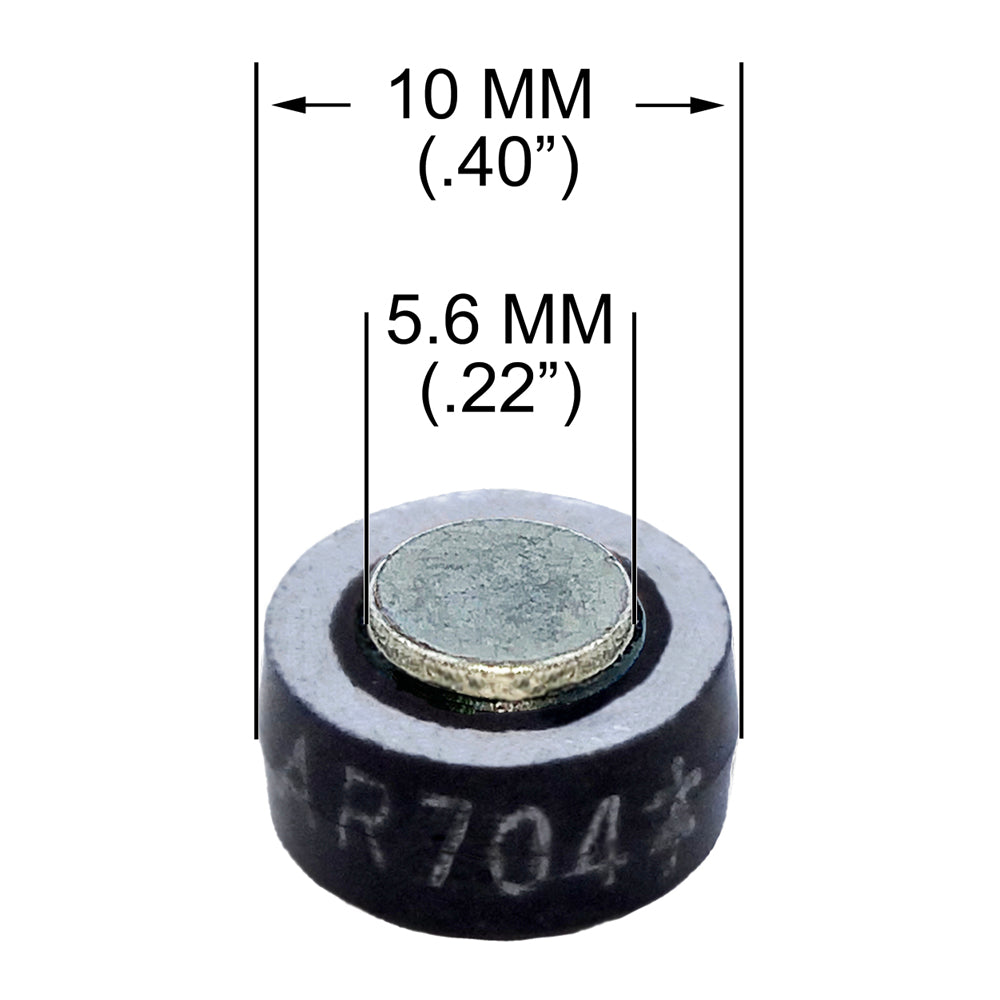 "Button Diode, 10MM (.40"") 70 Amp, 400 PRV Solderable Tin-Plated Contacts"