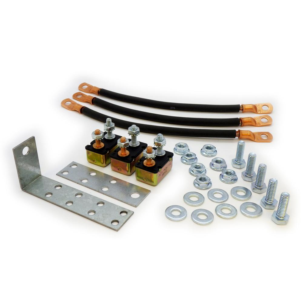 Power Forged Circuit Breaker Kit - 100A/800A DC Circuit Breaker Kit for High-Output Battery Chargers