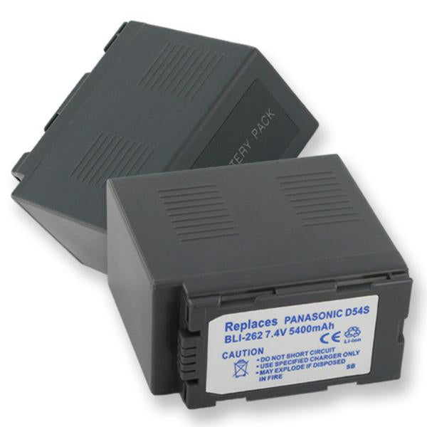 Video Battery - PANASONIC CGA-D54 LI-ION 5.4Ah  / BLI-262 / CAM-D54