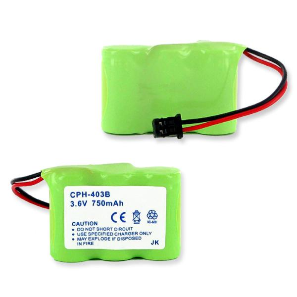 Cordless Phone Battery - 3X2/3AA NiMH 750mAh/B CONNECTOR  / CPH-403B / 3-1/2AA-BNMH