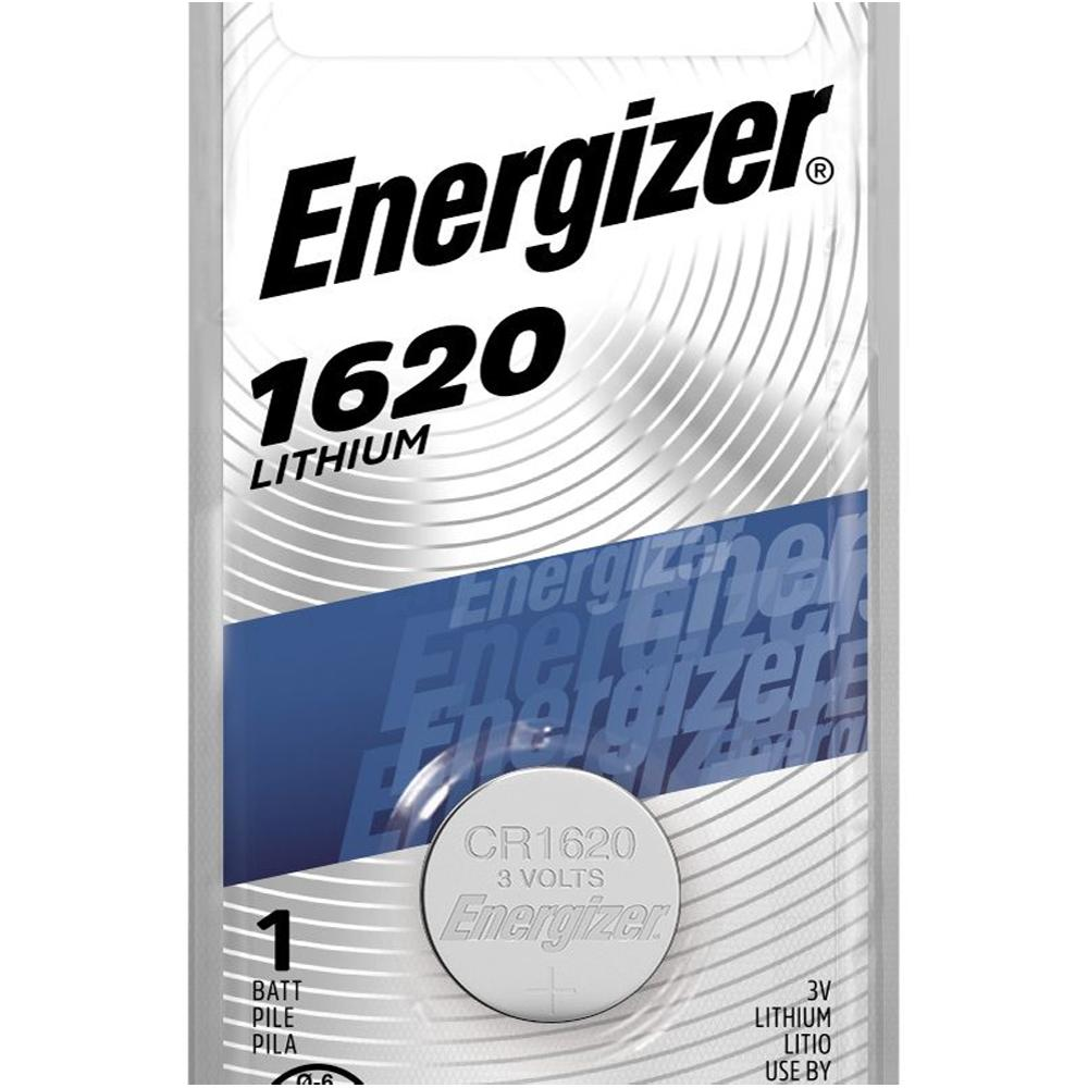 Energizer 1620 Lithium Coin Cell, 3V - 1 per card
