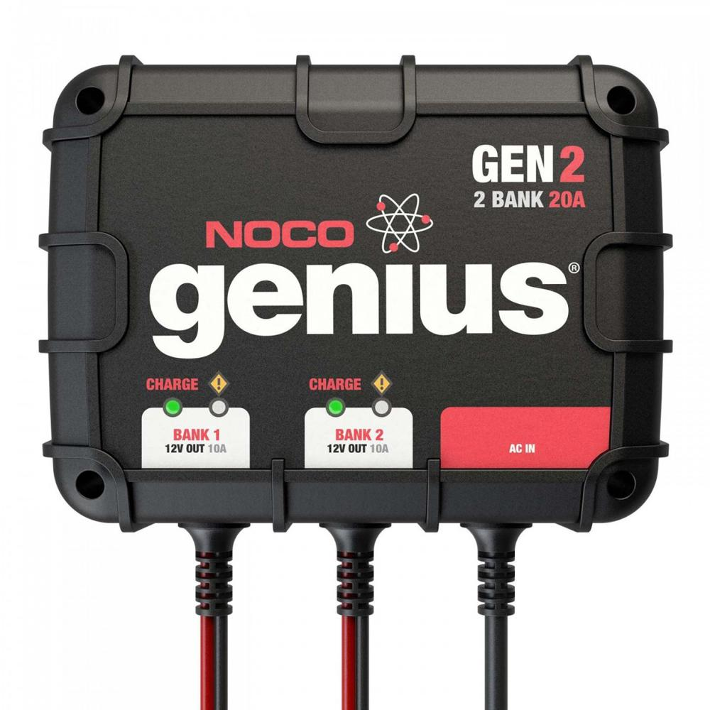 NOCO Genius 2-Bank 20 Amp On-Board Battery Charger