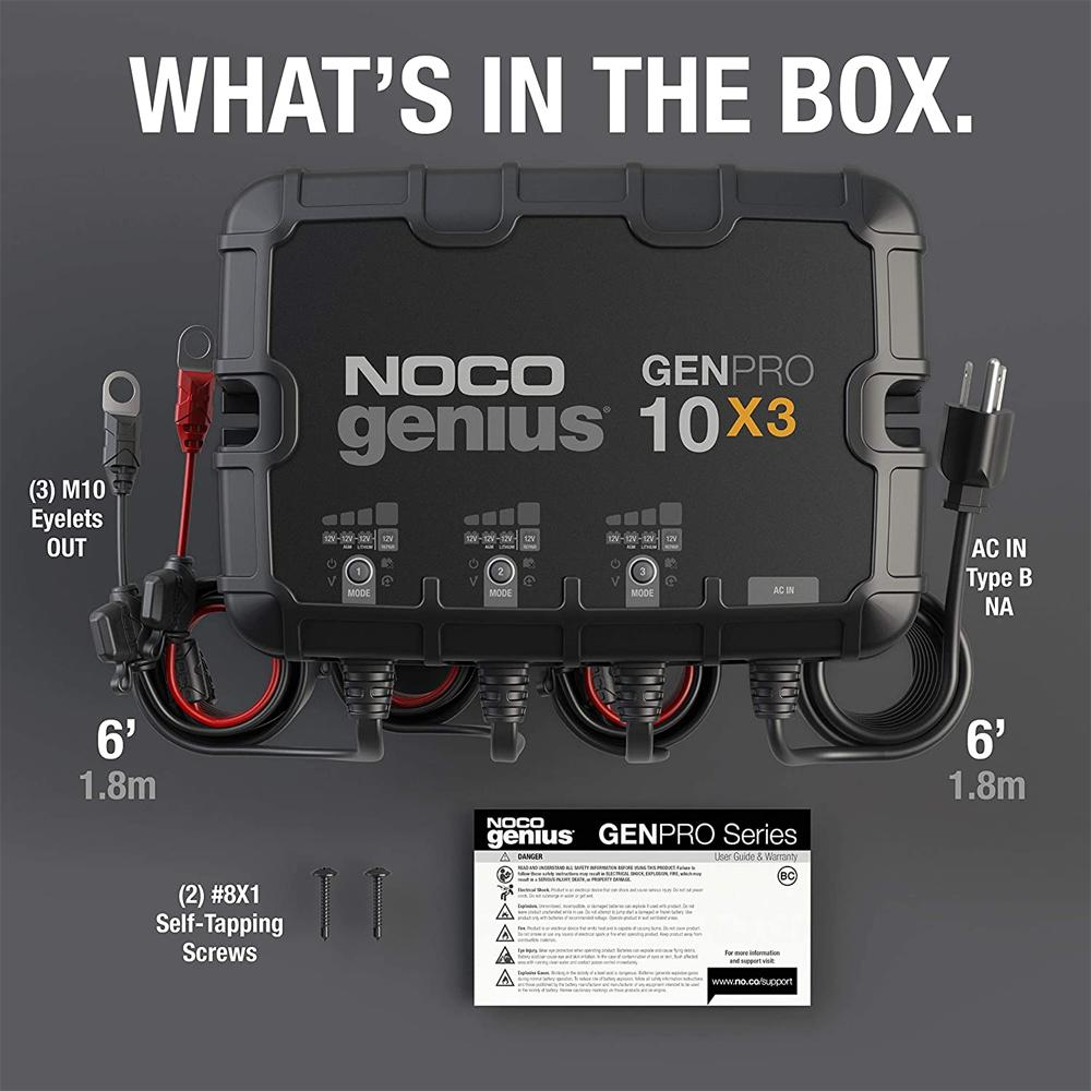 NOCO GENPRO10X3 3-Bank 30A Onboard Battery Charger & Maintainer
