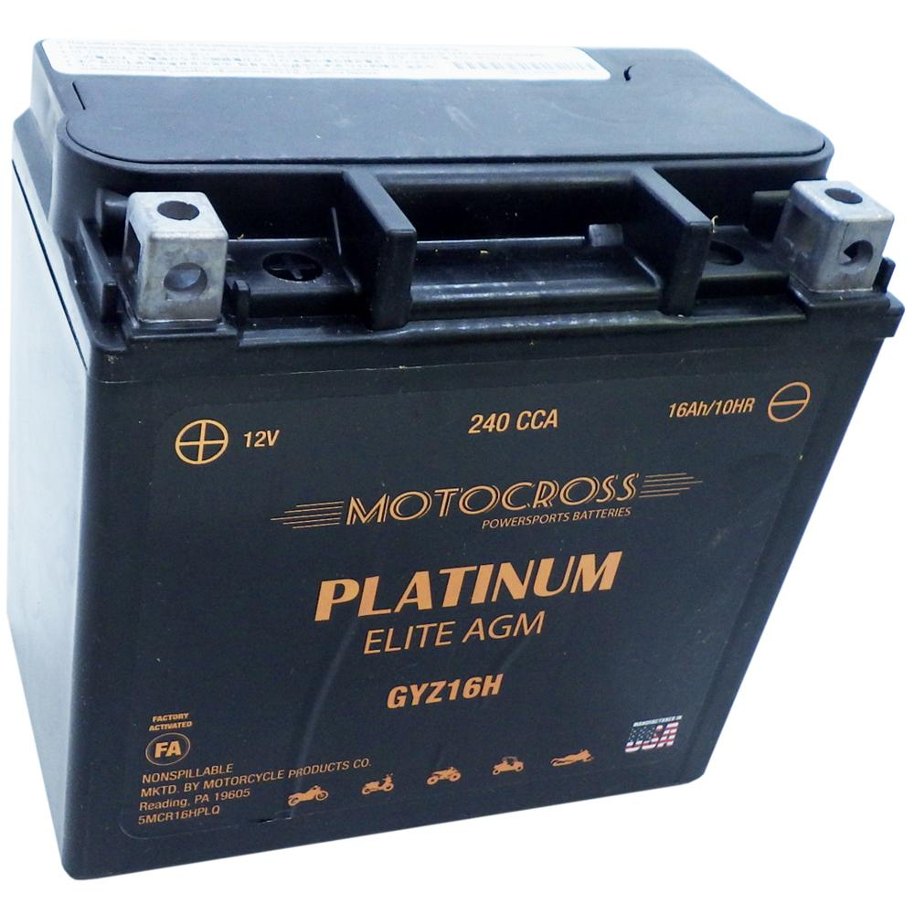 GYZ16H High Performance 12V AGM MC Battery, FA, 16 AH, 240 CCA M716GH