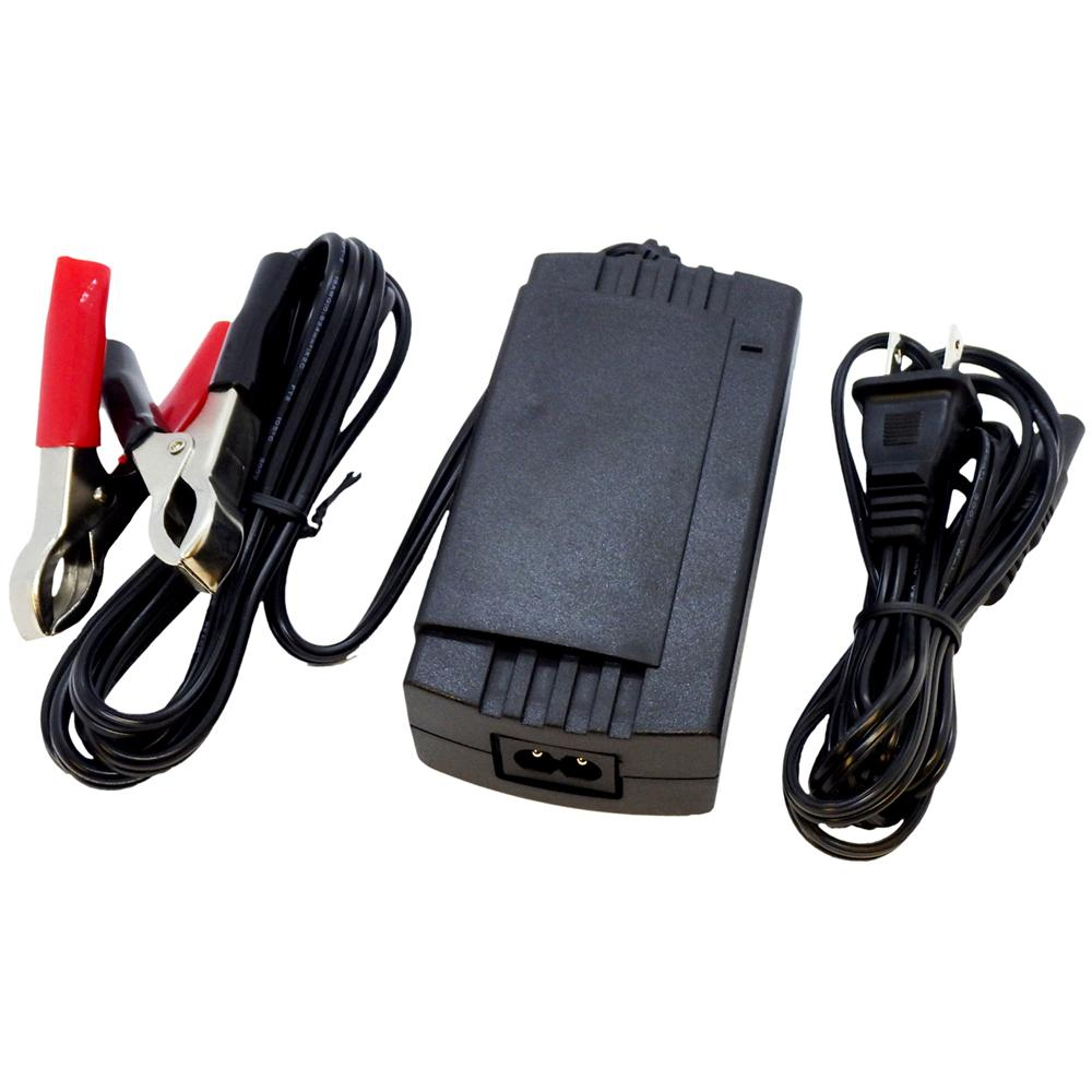 Schauer 12V 2A Fully Automatic Electronic Charger / Float Standby - Universal Input 90-240VAC - Battery Clips