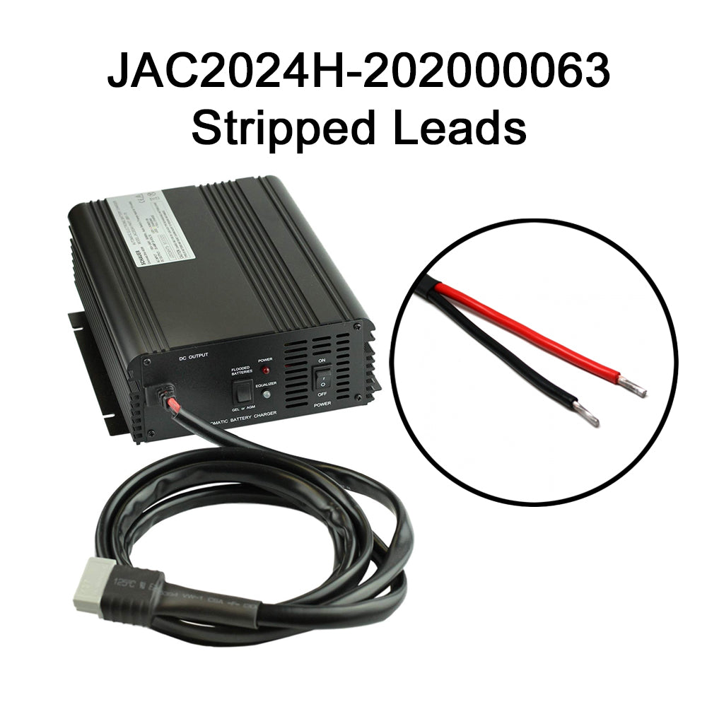Schauer JAC2024H 24V 20A Fully Automatic Electronic Charger / Float Standby - Auto-Sensing 120/240VAC - Choice of DC Industrial Connector