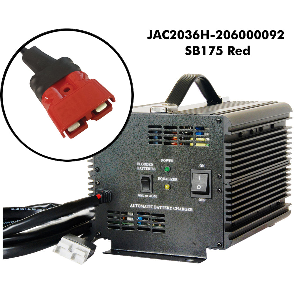 Schauer 36V 20A Fully Automatic Electronic Charger / Float Standby - Auto-Sensing 120/240VAC - Choice of DC Plug