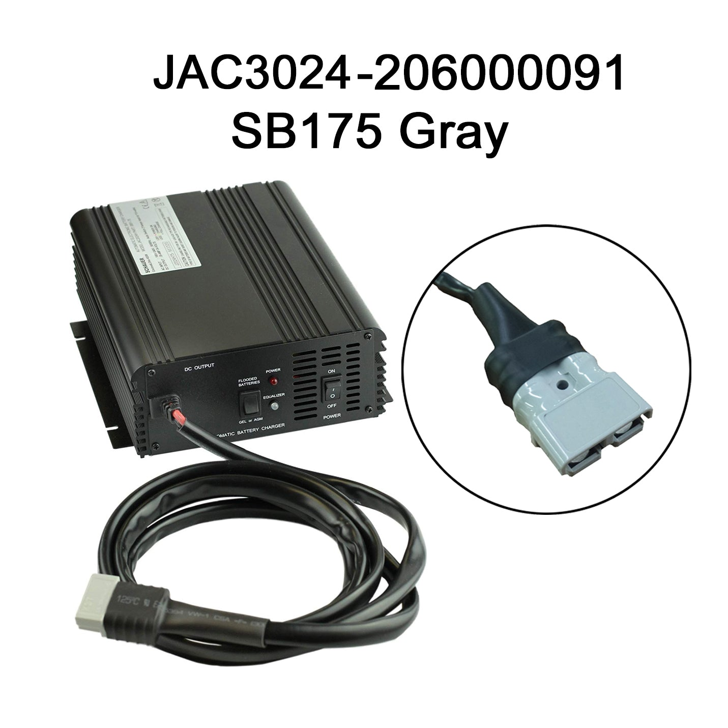 Schauer 24V 30A Fully Automatic Electronic Charger / Float Standby - 115/230VAC - SB50 w/ choice of DC Industrial Connector
