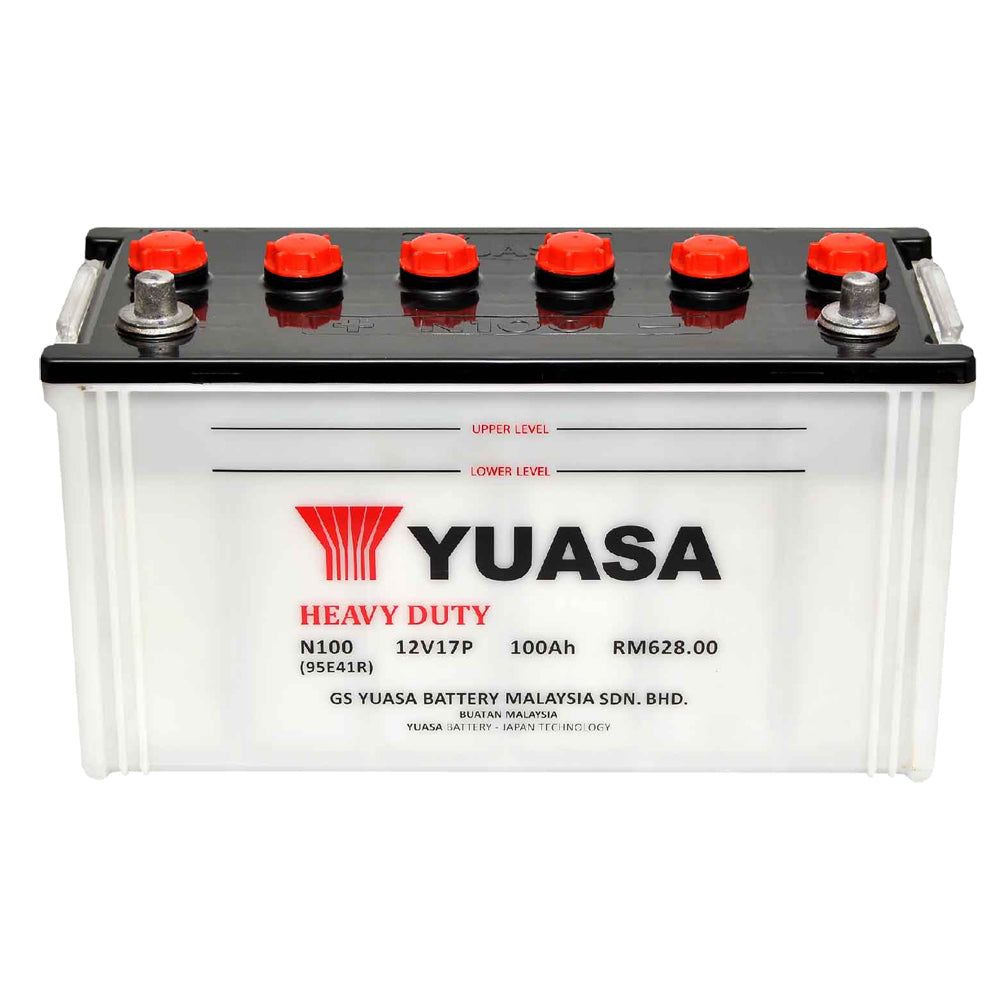 N100 Conv 12V H-D Japanese Commercial Battery, Dry Charged 100 AH, 475 CCA  M2N100