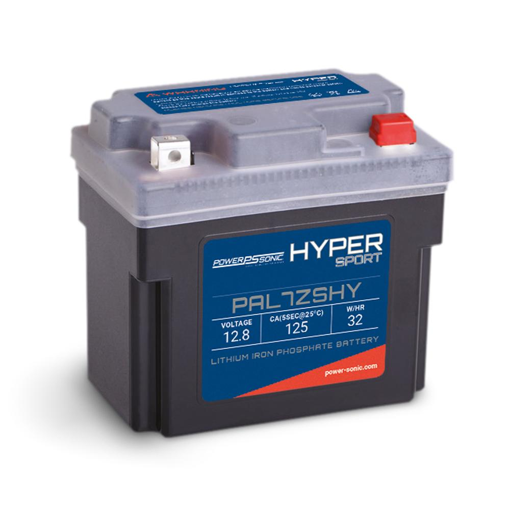 PowerSonic Hyper Sport LiFePO4 Battery - 12.8V 125CA 4Ah-8Ah  Replaces YTX5L-BS  YTX7L-BS  YTZ7S  YB7C-A