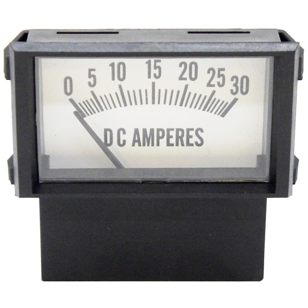 Amp Meter 0-30A Snap-In for Battery Chargers<br>PR18-30