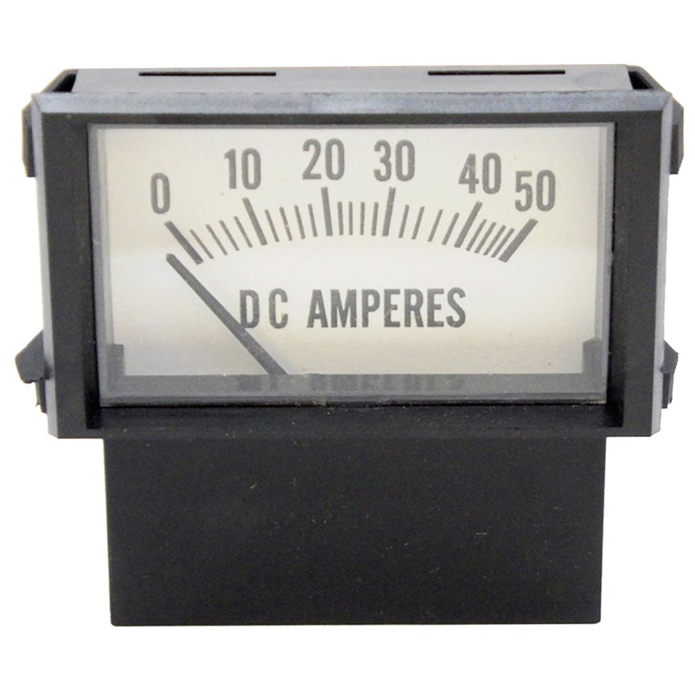 Amp Meter 0-50A Snap-In w/Inductive Pick-Up for Battery Chargers<br>PR18N-50