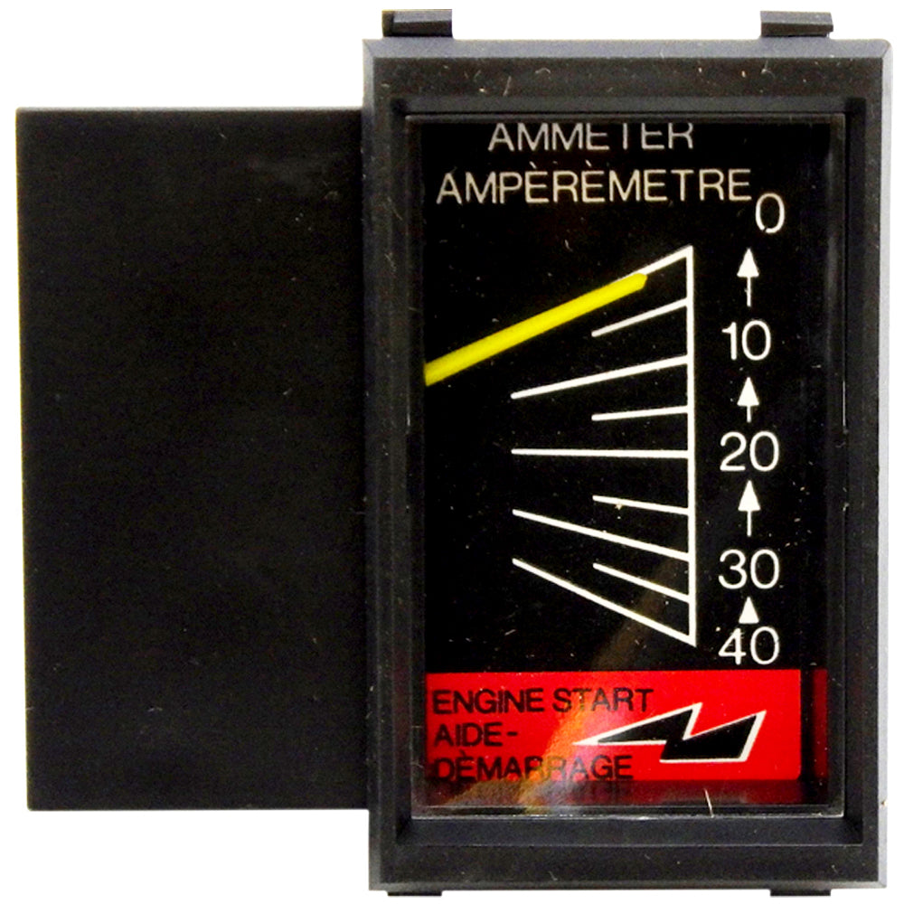 Amp Meter 0-40A w/Boost Snap-In Vertical Mount w/Inductive Pick-Up for Battery Chargers