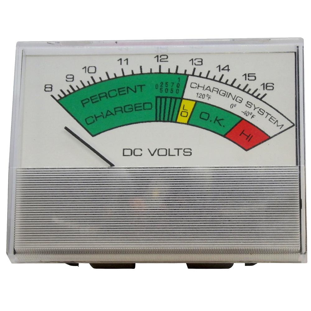 Volt Meter 8-16V DC Snap-In for Battery Chargers & Testers<br>PR21S-8-16DV
