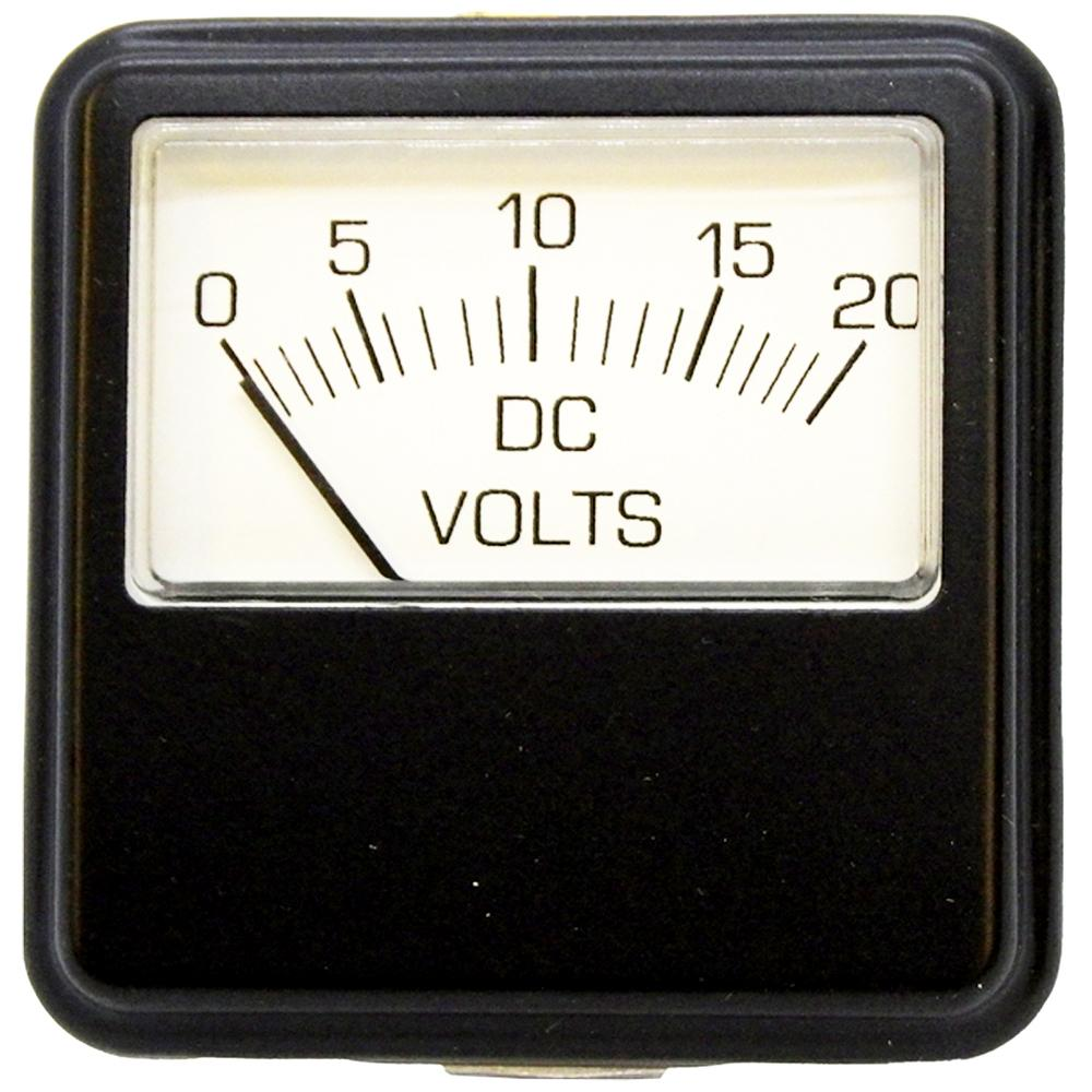 Volt Meter 0-20V DC Metal Face Clamp-Mount Heavy-Duty for Battery Chargers<br>PR24-20DV
