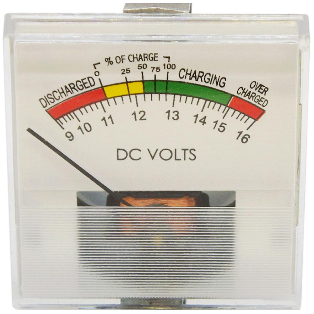 Volt Meter 12V DC State-of-Charge & Battery Test Meter Clamp-Mount<br>PR37-SC12
