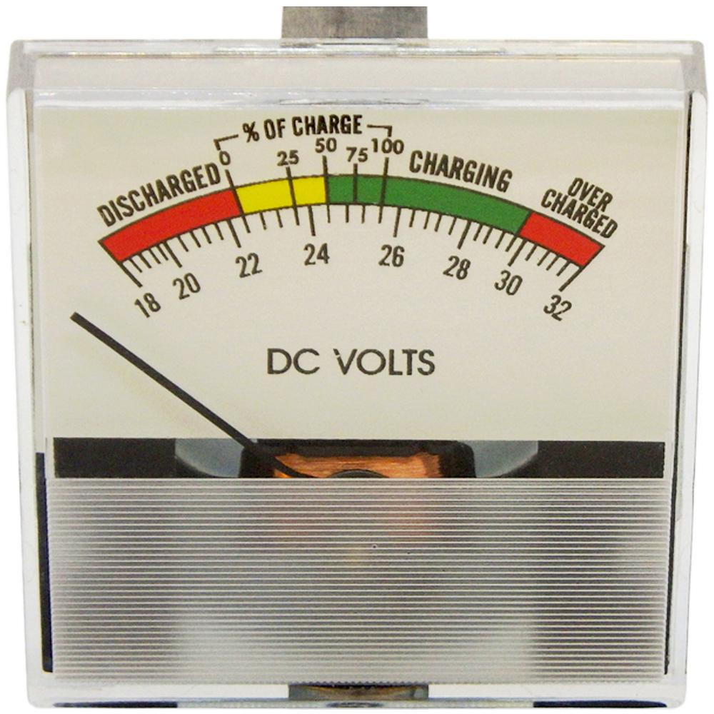 Volt Meter 24V DC State-of-Charge & Battery Test Meter Clamp-Mount<br>PR37-SC24