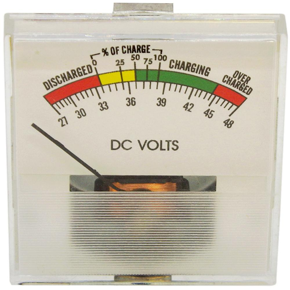 Volt Meter 36V DC State-of-Charge & Battery Test Meter Clamp-Mount