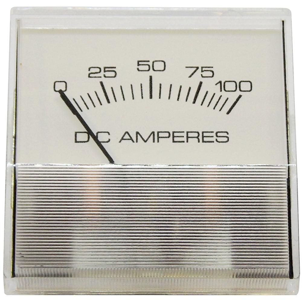 Amp Meter 0-100A Stud-Mount Heavy-Duty for Battery Chargers