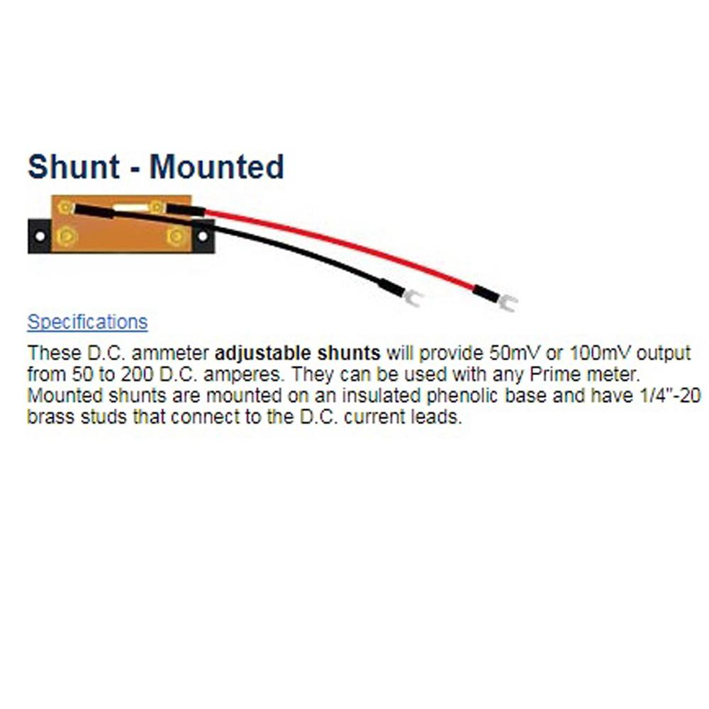 Shunt, External - 150A Insulated Mount - Use w/150A Meters<br>PRM-144