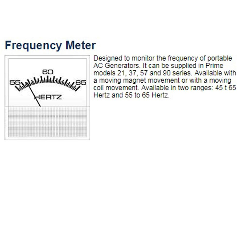 Frequency Meter 55-65 Hz, 90-300V AC Stud-Mount