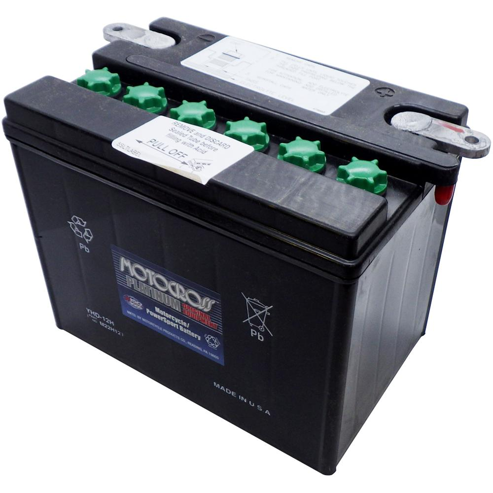 YHD-12 Conv 12V MC Battery, Dry Charged 29 AH, N/A CCA  M22H12